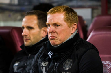 Celtic boss Neil Lennon at Tynecastle