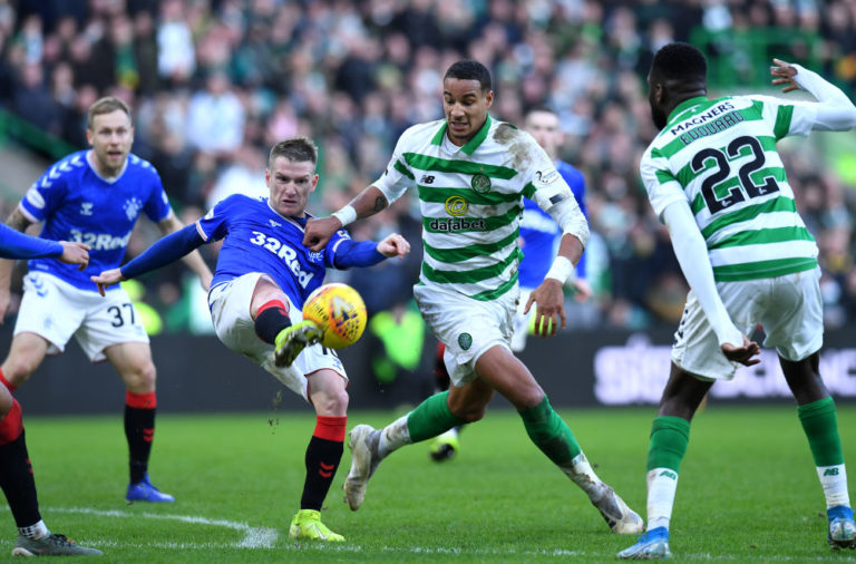 Celtic in action against Rangers