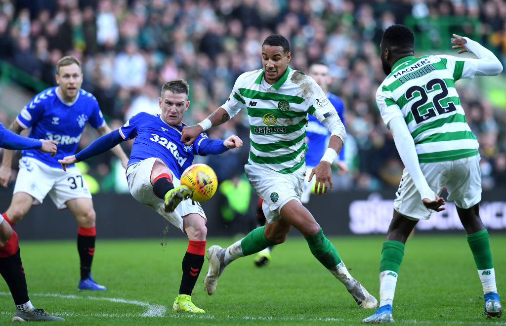 Christopher Jullien in action v Rangers