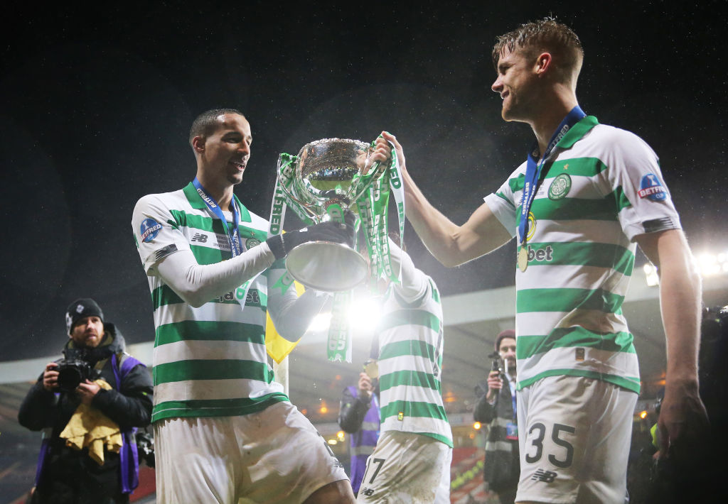 Celtic defenders Christopher Jullien and Kristoffer Ajer
