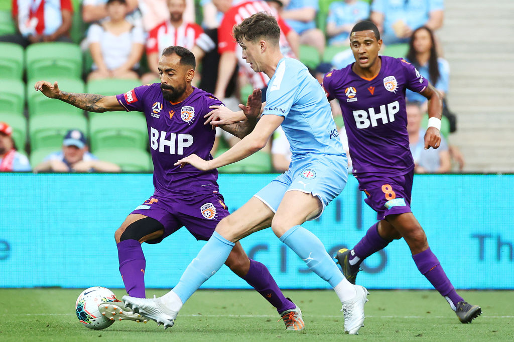 Jack Hendry in action for Melbourne City