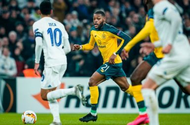 Olivier Ntcham in action vs Copenhagen