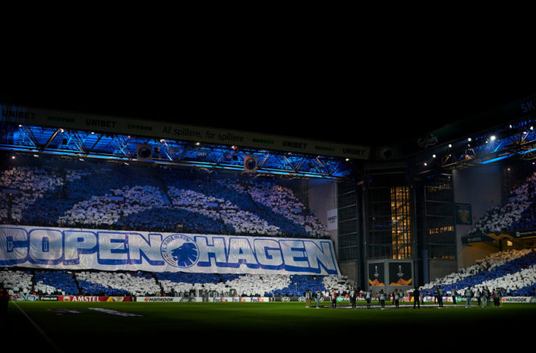 The pre-match Copenhagen tifo