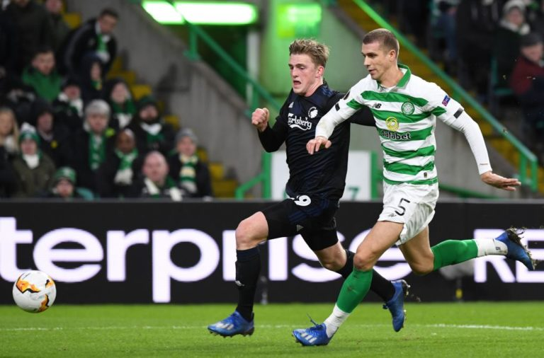 Celtic defender Jozo Simunovic in action against Copenhagen