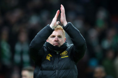 Neil Lennon after the game in Denmark