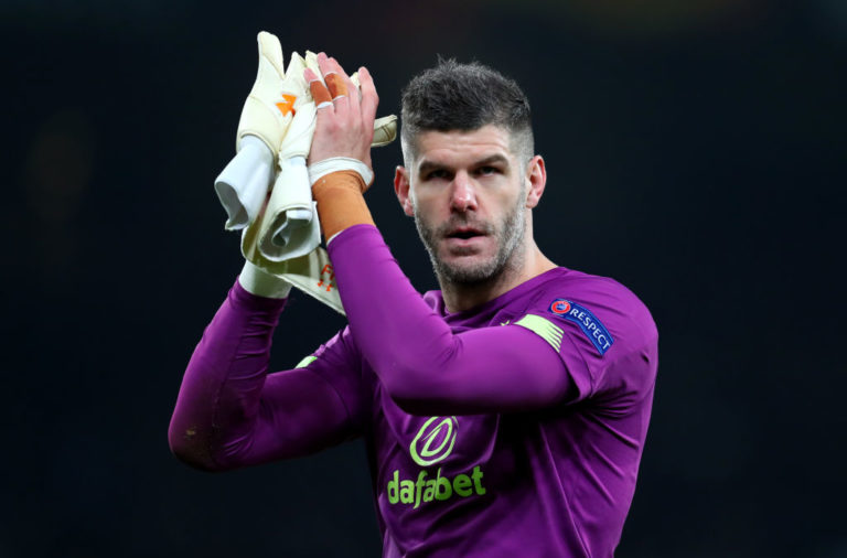 On loan Celtic goalkeeper Fraser Forster