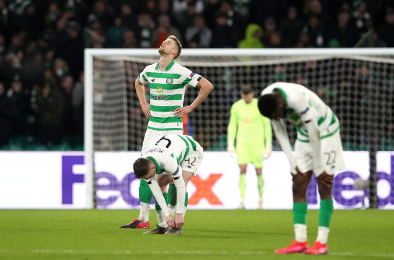 It was a bruising night for Celtic