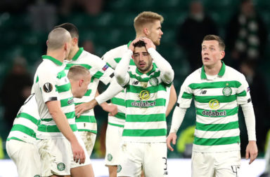 Celtic stars look dejected