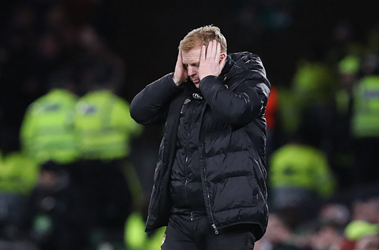 It was a tough night for Neil Lennon