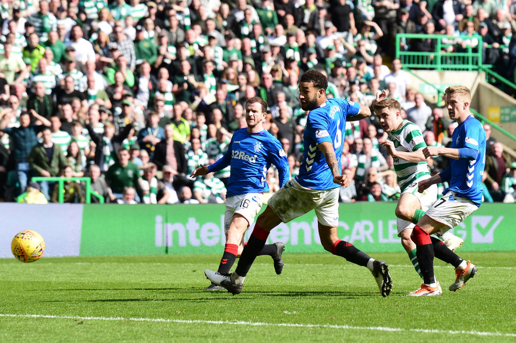 James Forrest scores the winning goal