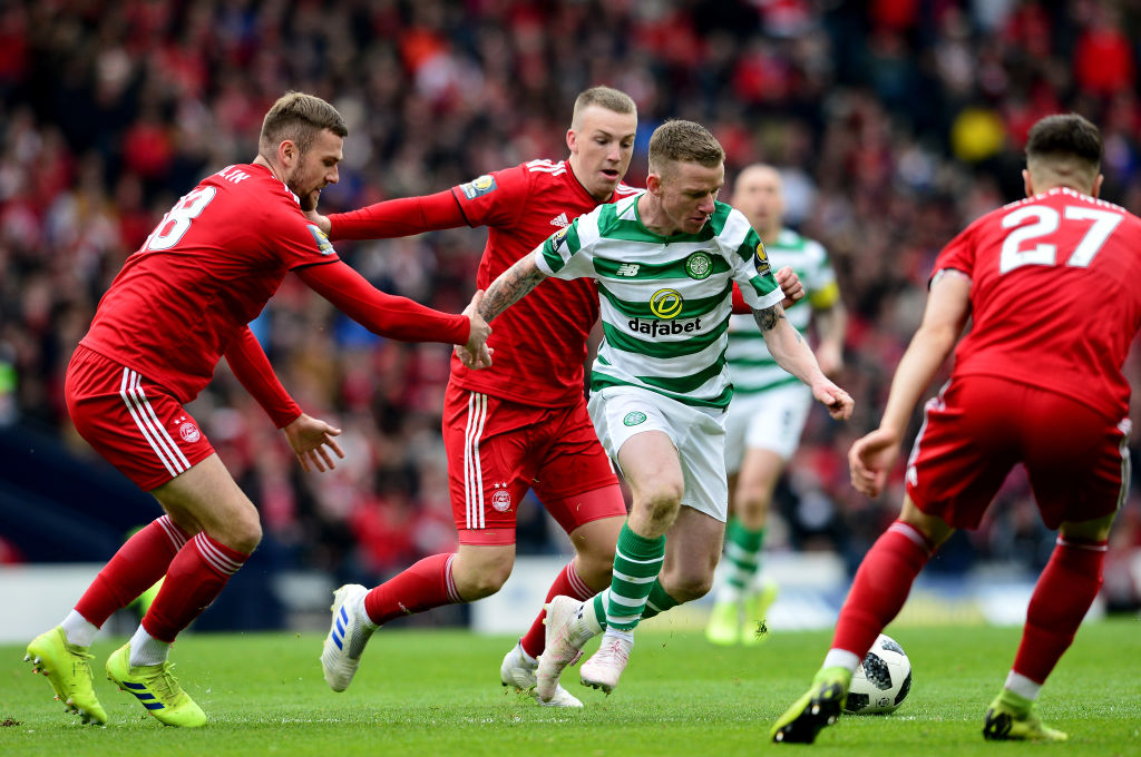 Jonny Hayes in action for Celtic against Aberdeen