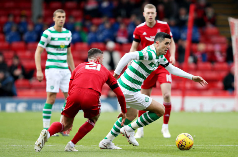 Celtic in action against Aberdeen