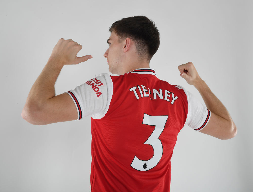 Tierney sent Izaguirre an Arsenal home shirt