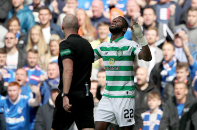 Edouard celebrates at Ibrox