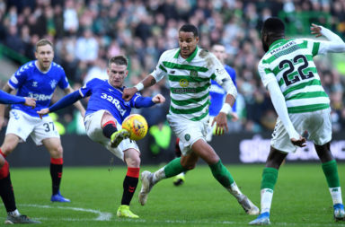 Celtic defender Christopher Jullien in action against Rangers