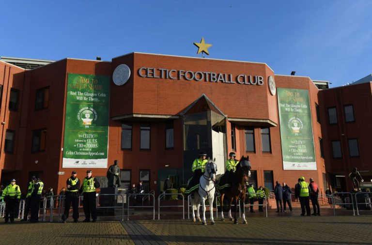 The outside of Celtic Park