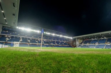 General view of the Ibrox pitch