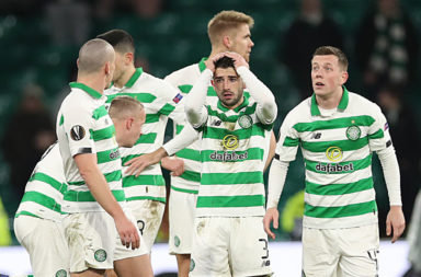 Celtic players were stunned after Euro exit