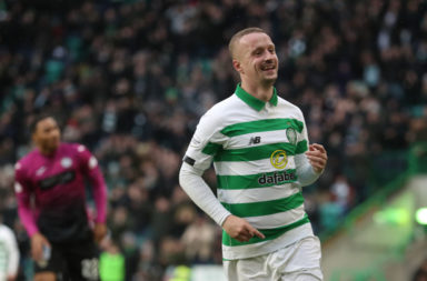 Leigh Griffiths celebrates a Celtic goal