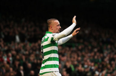 Leigh Griffiths celebrates scoring for Celtic