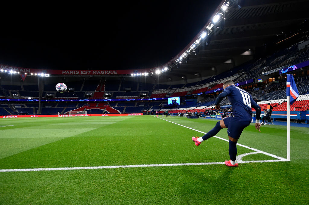 PSG vs Dortmund was played in front of no fans on Wednesday