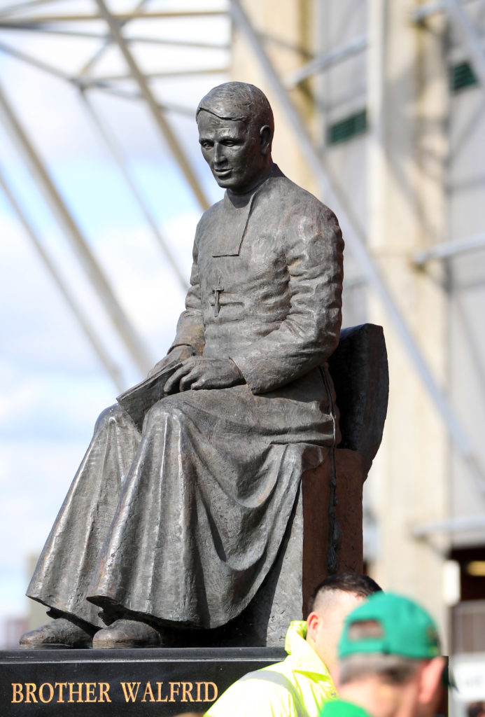 Brother Walfrid statue outside Celtic Park