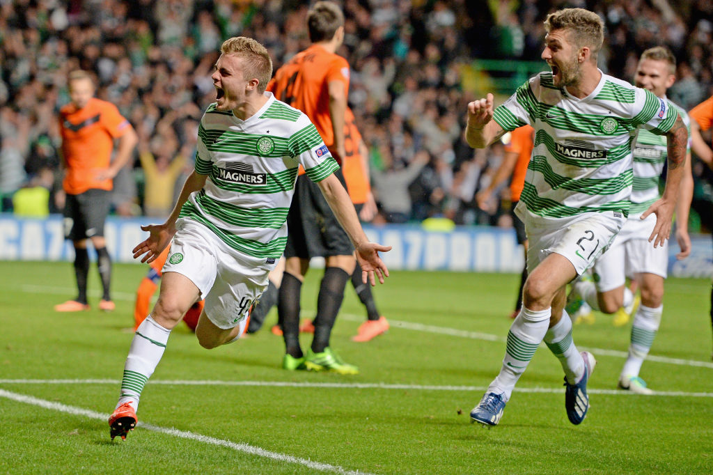 James Forrest celebrates in style