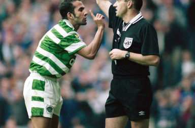 Paolo Di Canio during his one season with Celtic