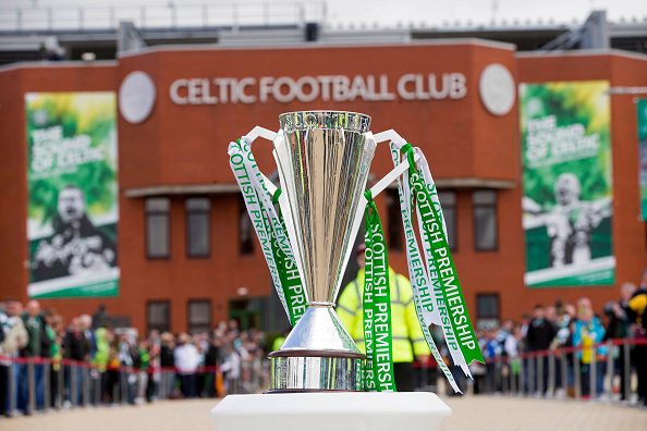 The Scottish Premiership trophy