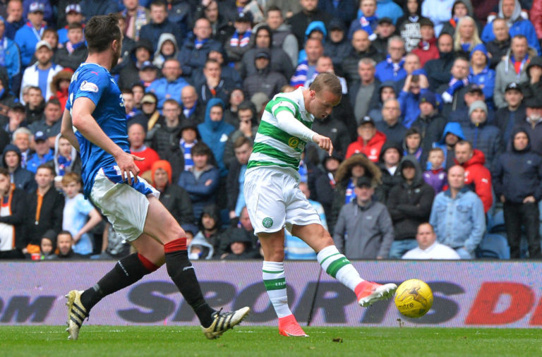 Leigh Griffiths' first goal at Ibrox
