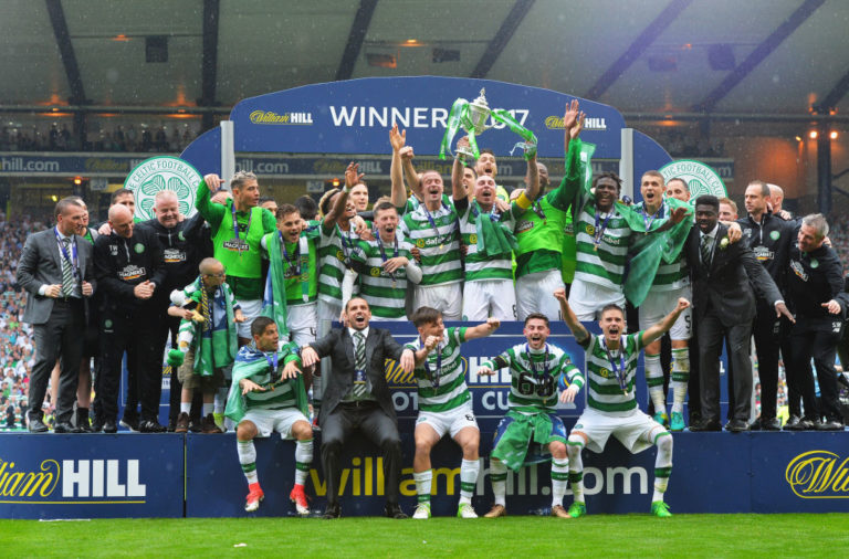 Celtic celebrate winning the Scottish Cup in 2017