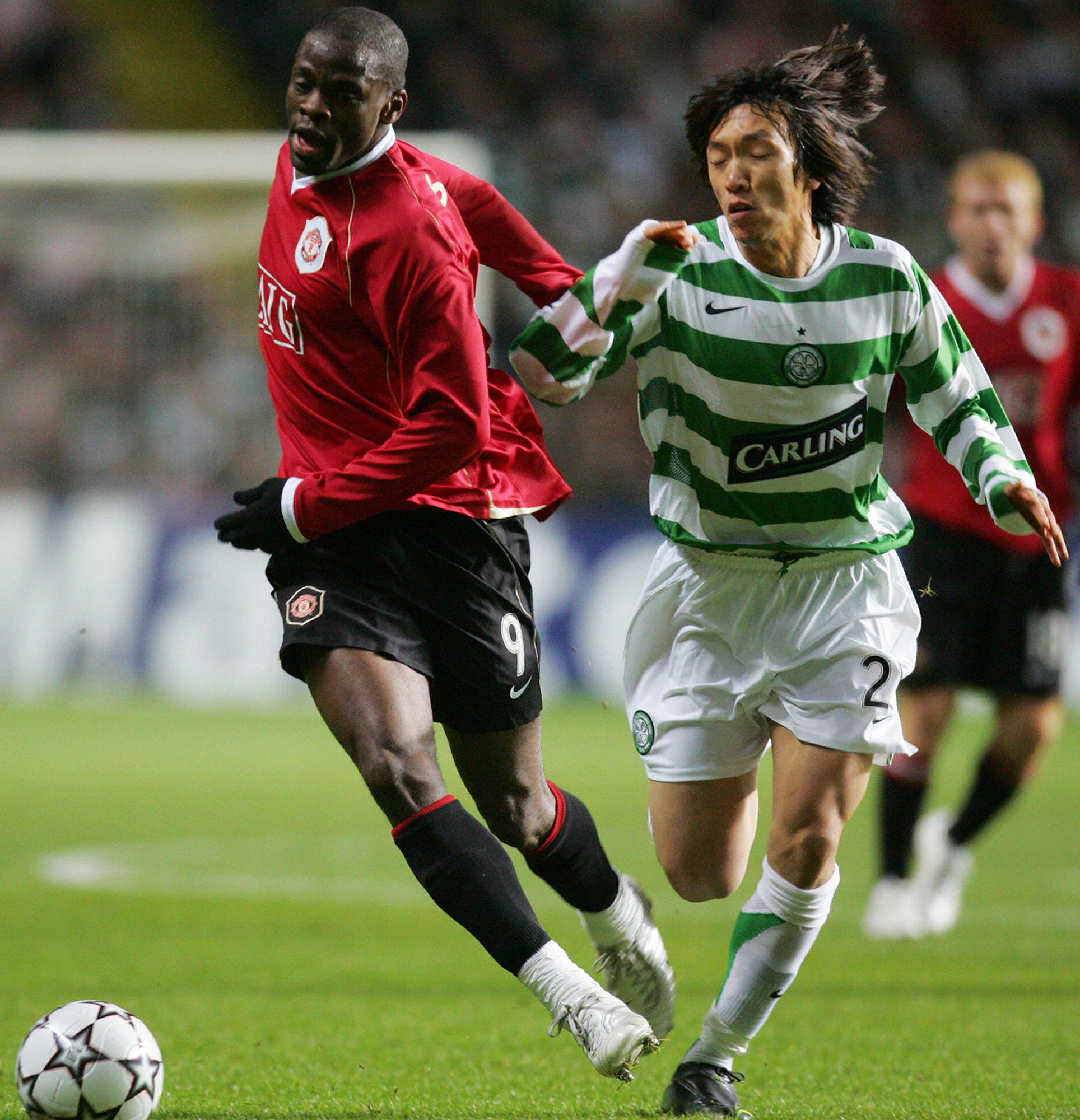 Nakamura in action against Manchester United
