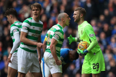 Scott Bain in action at Ibrox