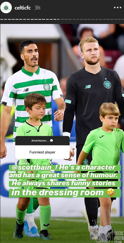 Hatem Abd Elhamed's response to a Celtic fan's question