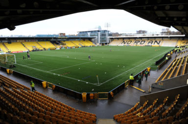 Livingston's stadium prior to a Celtic match
