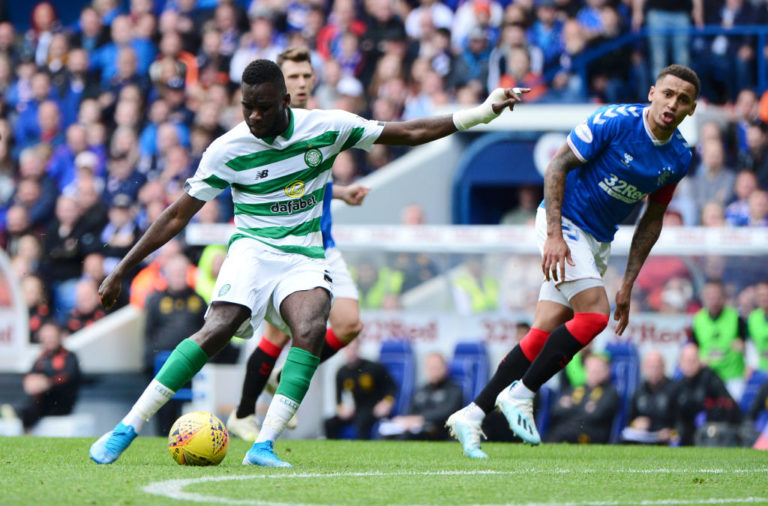 Odsonne Edouard scores for Celtic against Rangers