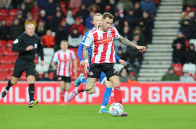 Celtic supporting Chris Maguire in action for Sunderland