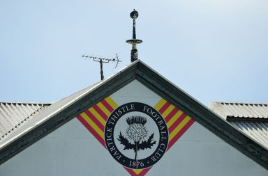 Partick Thistle emblem at Firhill