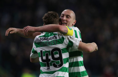 Celtic stars James Forrest and Scott Brown