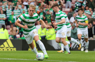 Calvin Miller in action for Celtic
