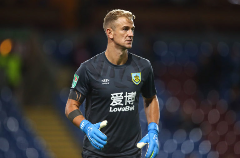 Free agent goalkeeper Joe Hart in action for Burnley