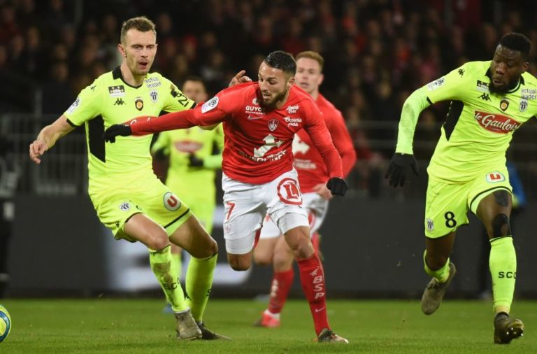 Celtic-linked Haris Belkebla in action for Brest