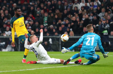 Odsonne Edouard scoring for Celtic vs Copenhagen