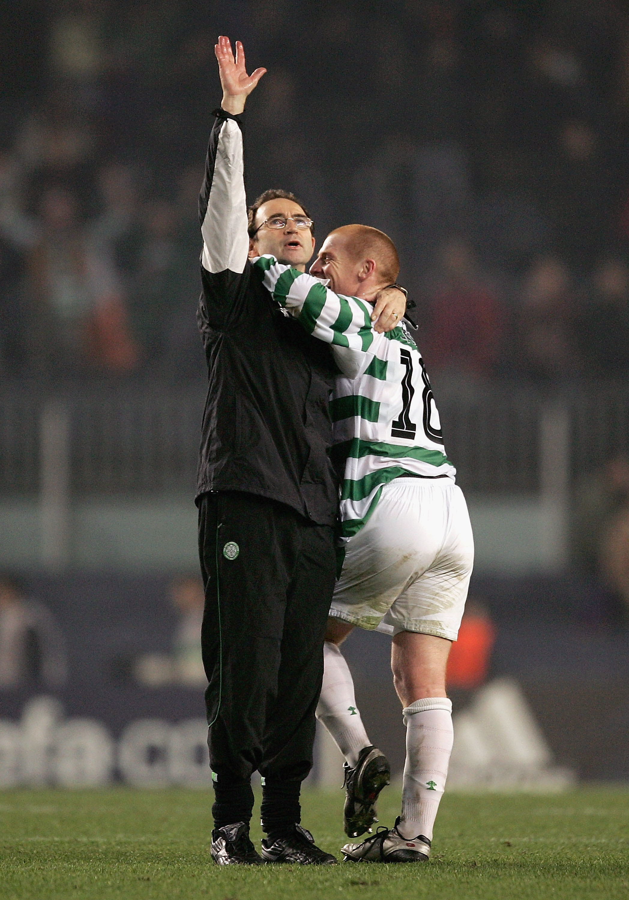 Celtic icons Martin O'Neill and Neil Lennon