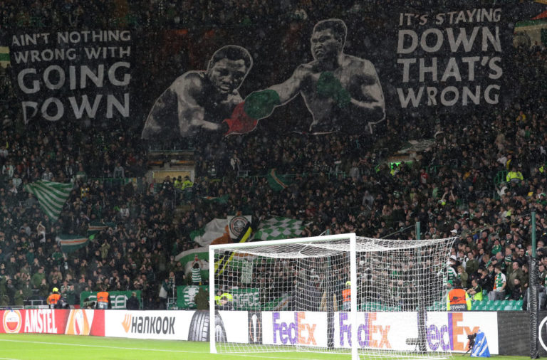 The Green Brigade display vs Cluj
