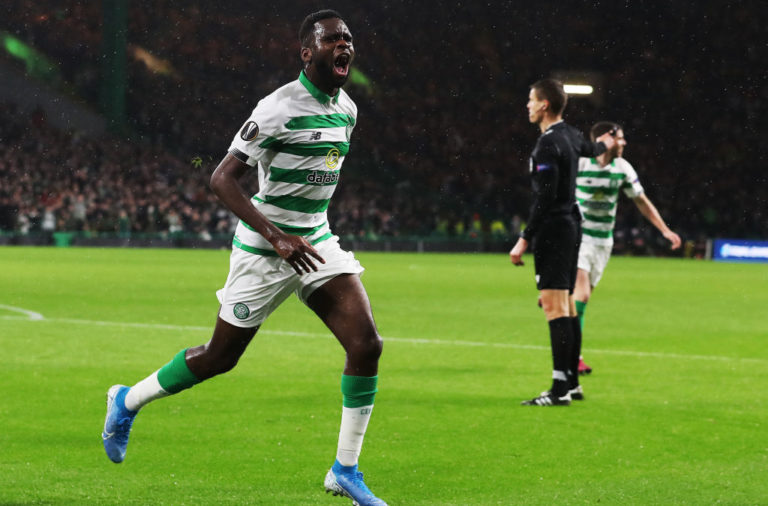 Odsonne Edouard celebrates scoring for Celtic