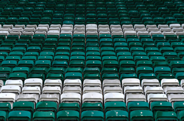 Empty seats at Celtic Park