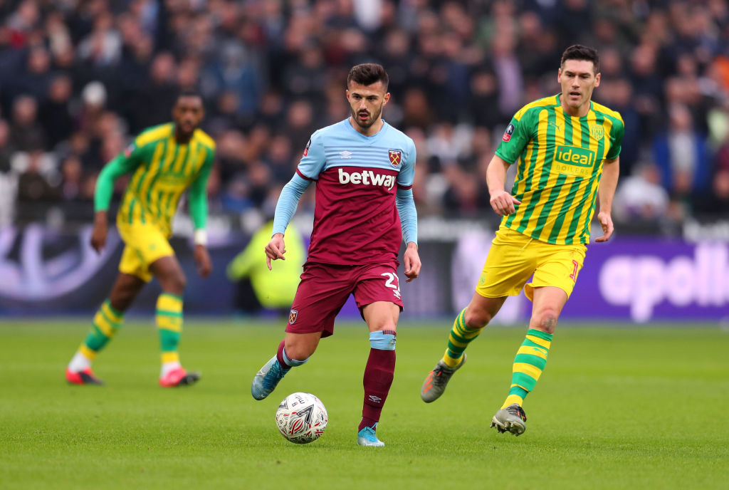 Celtic target Albian Ajeti in action for West Ham United