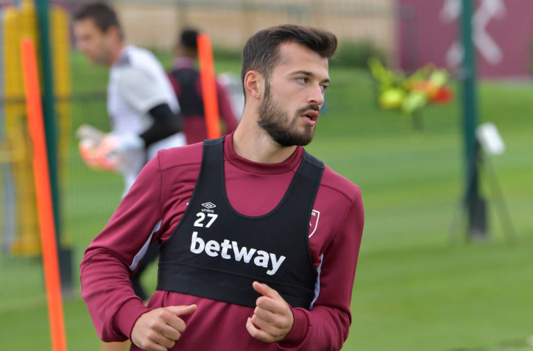 Reported Celtic target Albian Ajeti in West Ham training