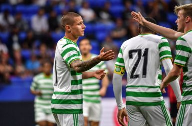 Patryk Klimala scored the Celtic goal